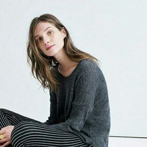 Madewell Gray Merino Wool Northlight Pullover
